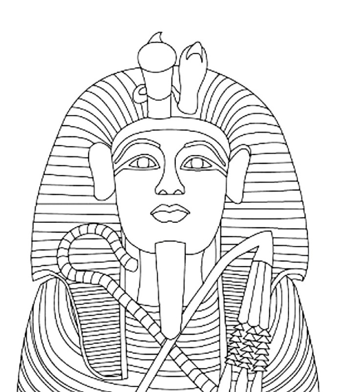 700x802 King Tut Coloring Page
