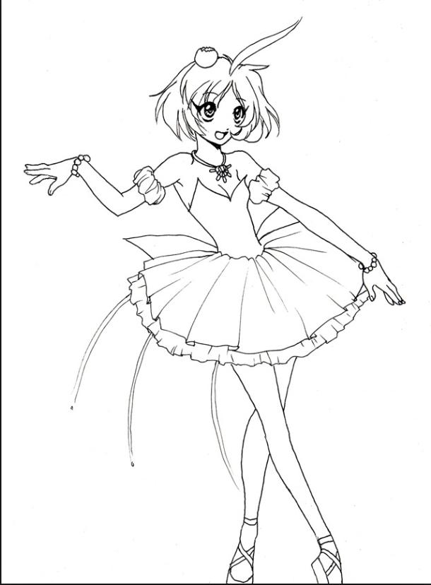 610x828 Princess Tutu Coloring Page Princess Tutu