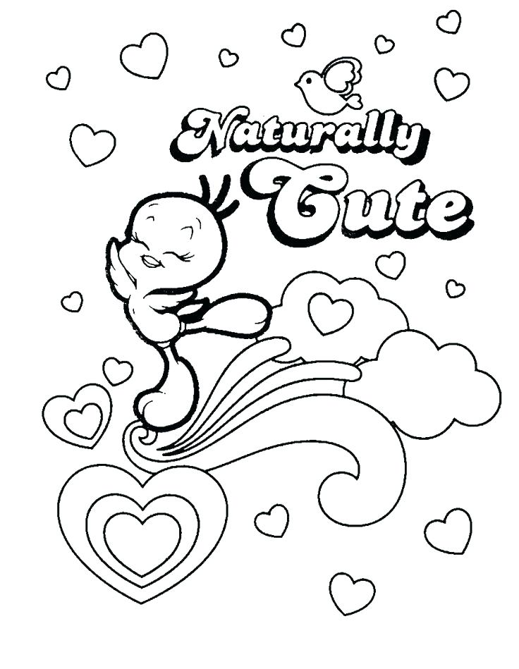 736x949 Coloring Pages Tweety Bird Good Cartoon Character Of Bird Coloring