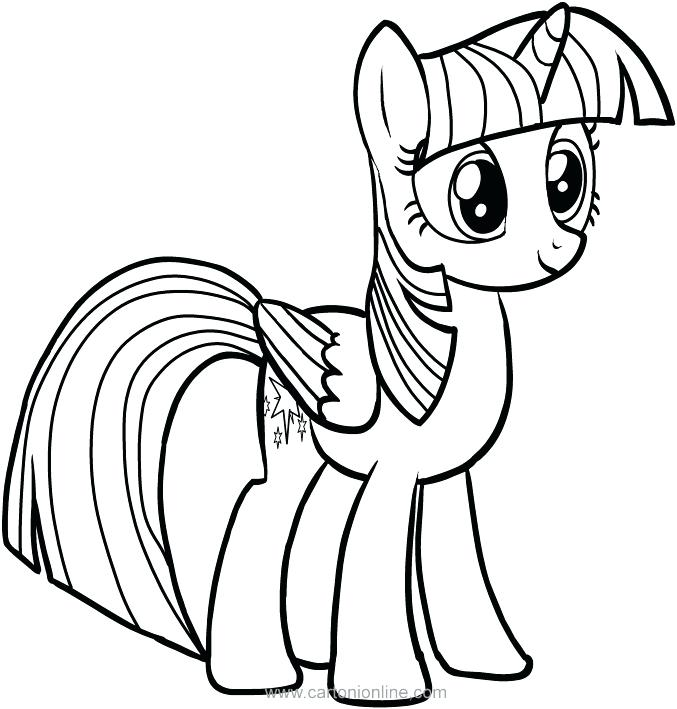 677x709 My Little Pony Coloring Pages Twilight Sparkle And Friends Mlp