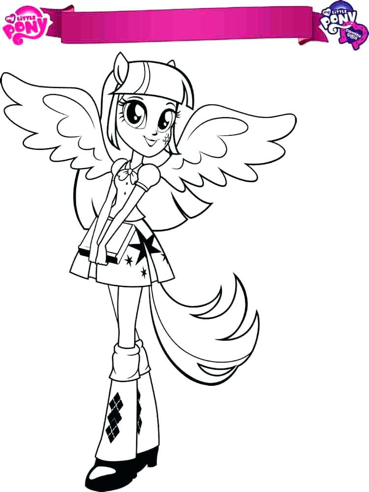 750x1000 Twilight Sparkle Coloring Page Plus My Little Pony Girls Twilight