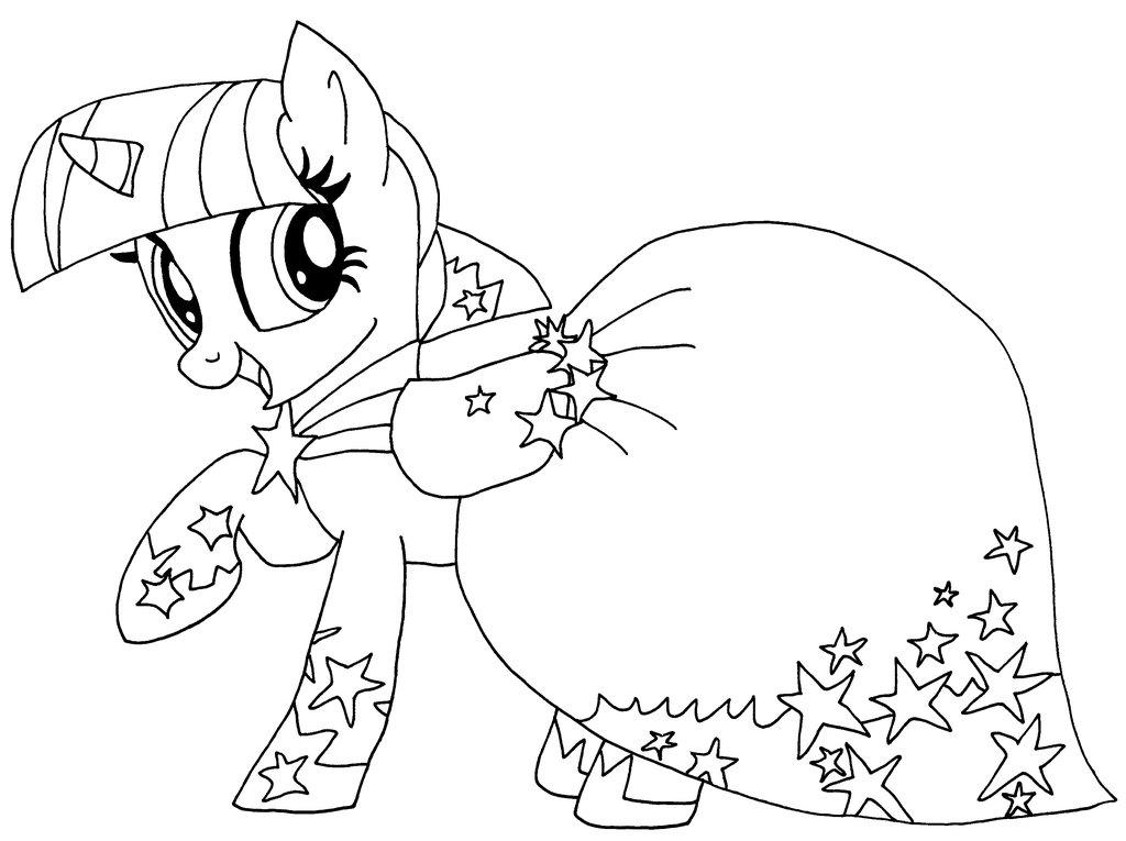 1024x765 Mlp Coloring Princess Twilight Sparkle Alicorn My Little Pony