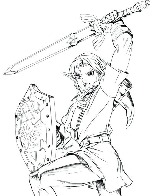 564x676 Legend Of Zelda Twilight Princess Coloring Pages Picture Link