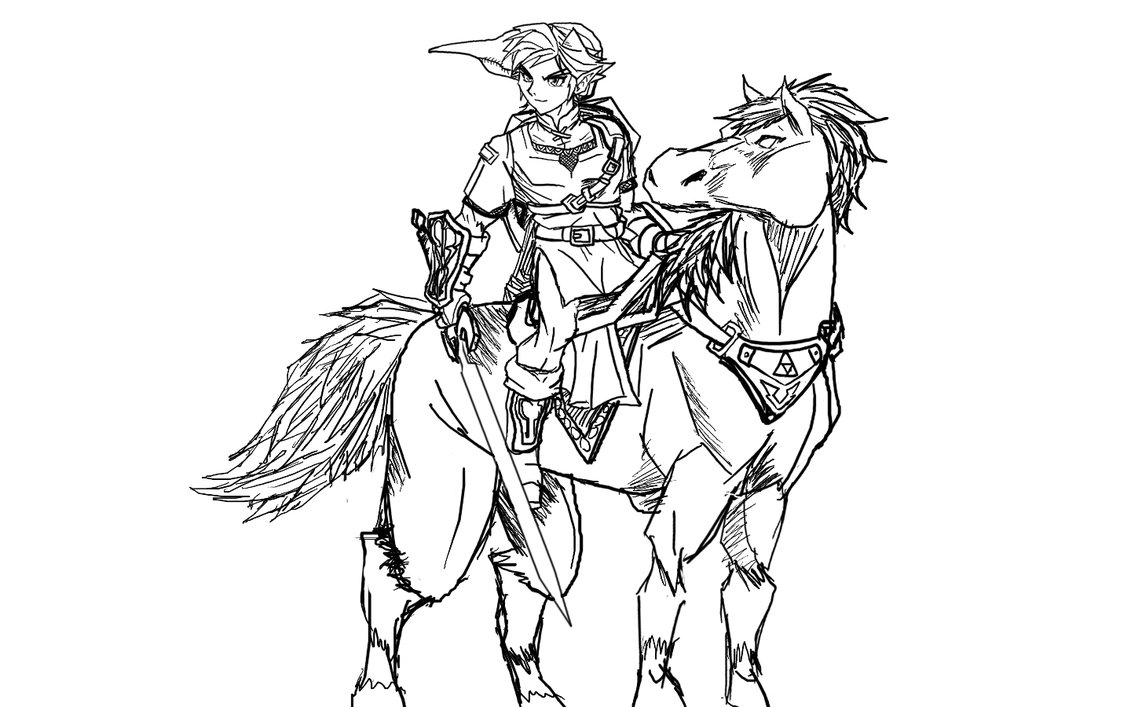 1131x707 Link Twilight Princess Coloring Pages Free Sheets Fair