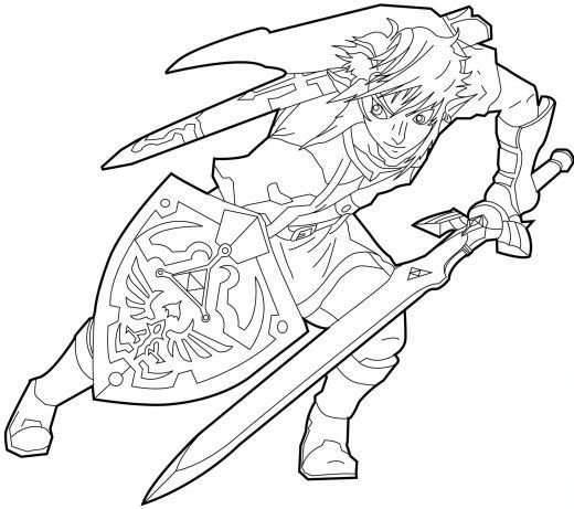 520x461 Link Twilight Princess Coloring Pages