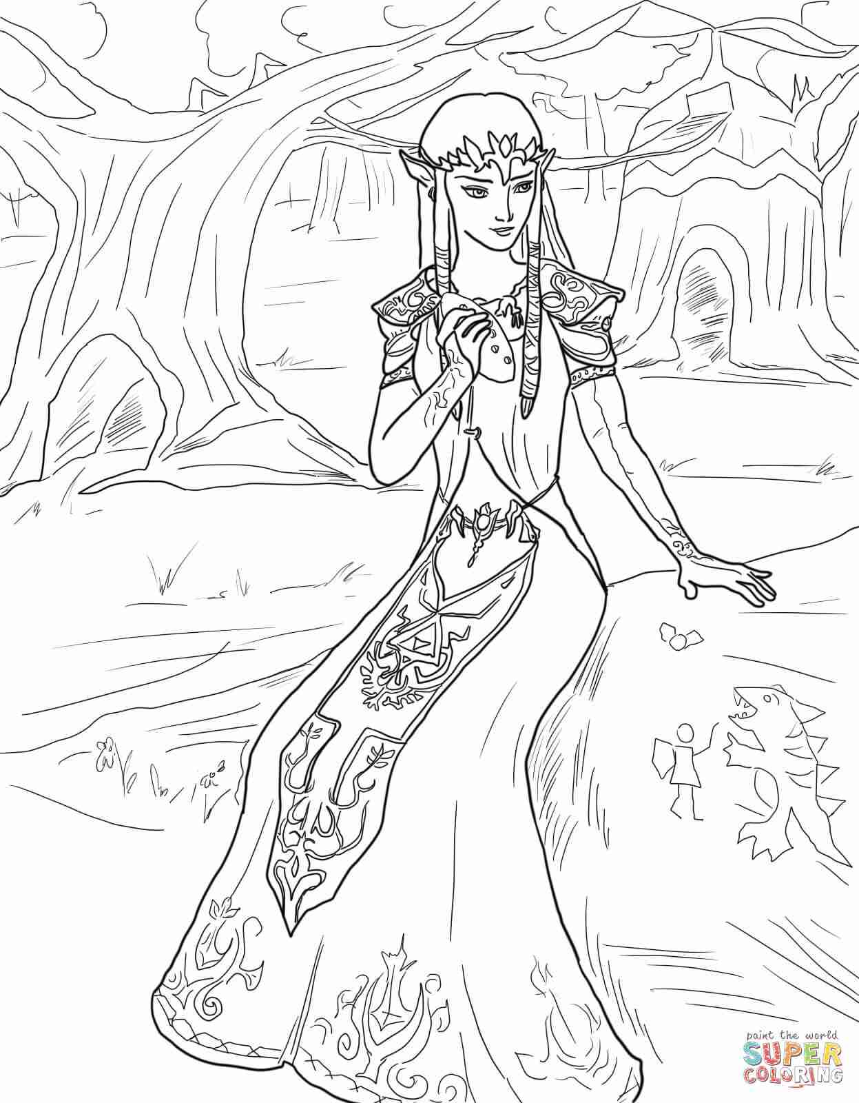 1247x1600 The Legend Of Zelda Twilight Princess Coloring Pages Free Stuning