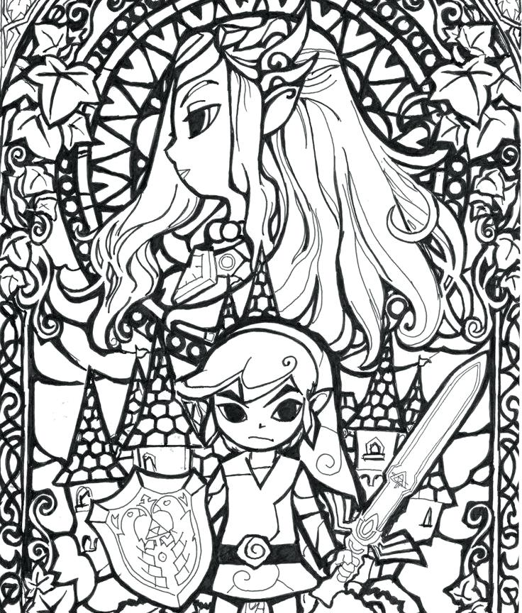 736x864 Zelda Coloring Book Legend Of Twilight Princess Coloring Page Free