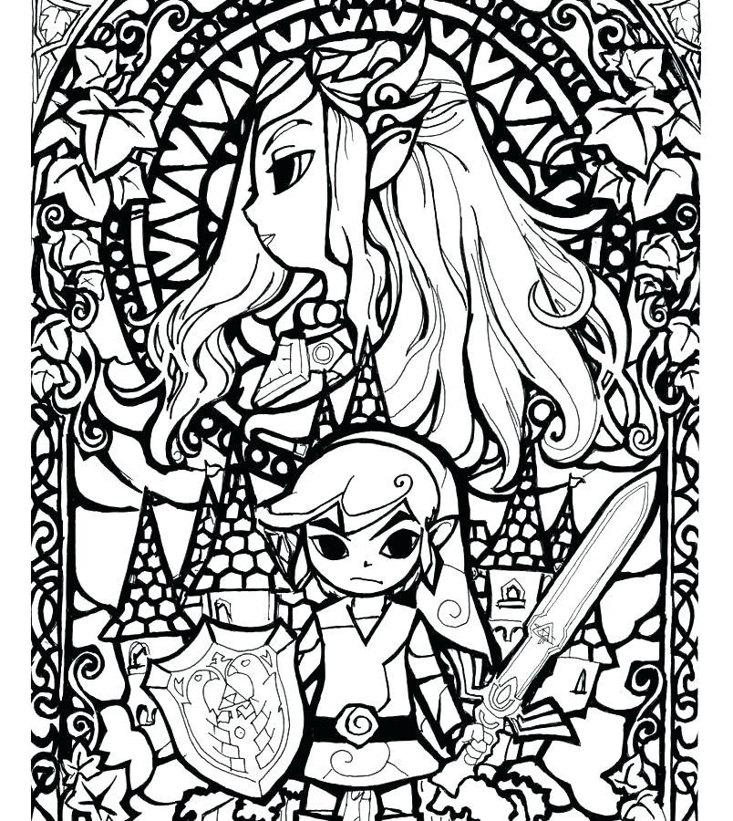 804x900 Zelda Skyward Sword Coloring Pages Link Free Printable For Kids