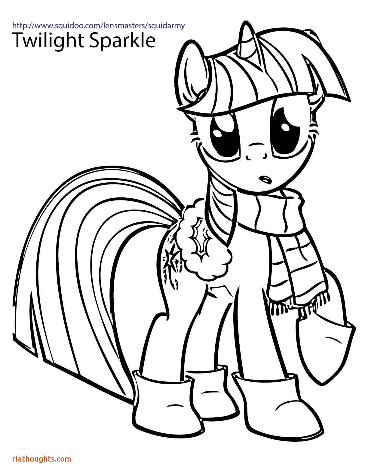 Twilight Sparkle Coloring Pages To Print