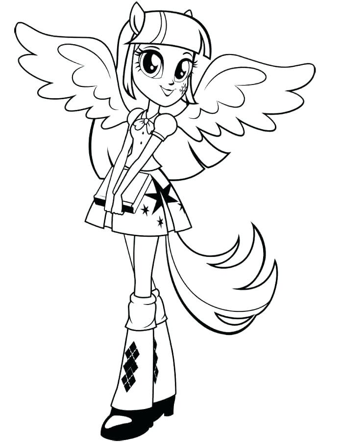 Twilight Sparkle Coloring Pages To Print at GetDrawings.com ...