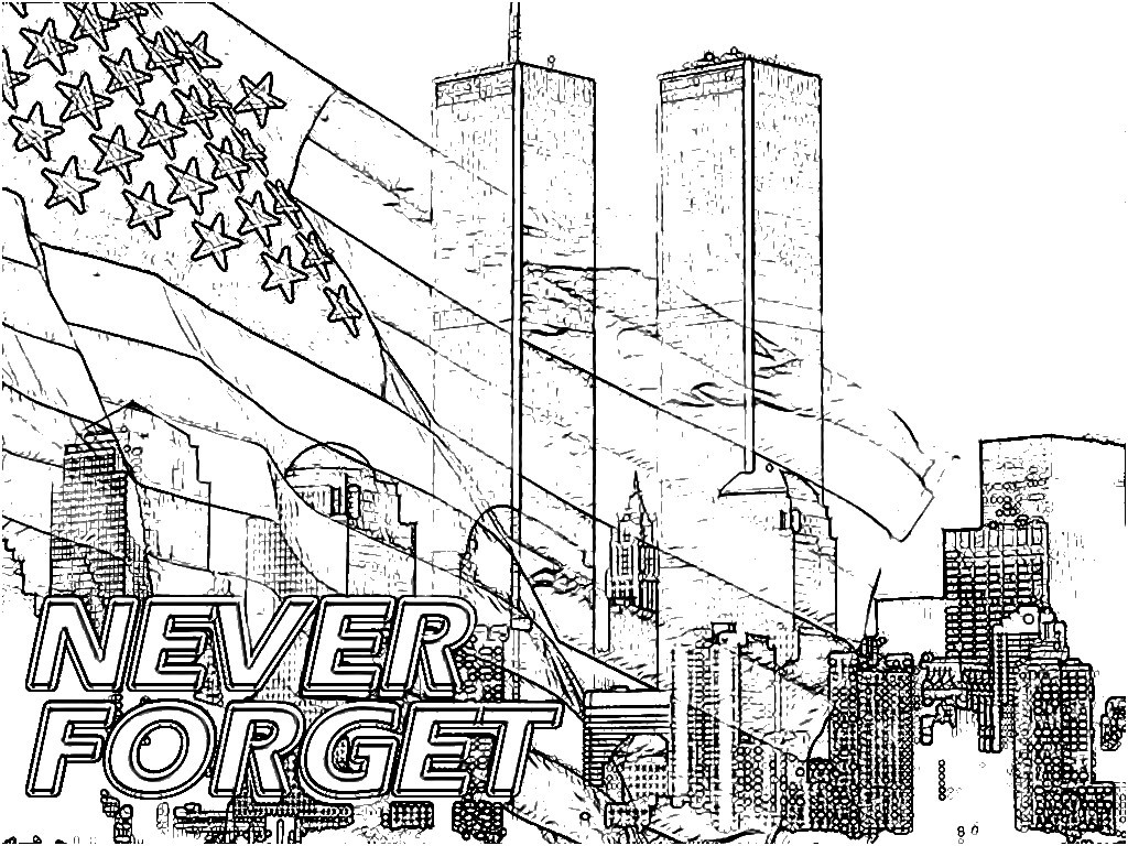 Twin Towers Coloring Page