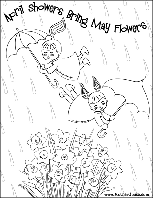 612x792 April Showers Coloring Pages Twitter Ideas