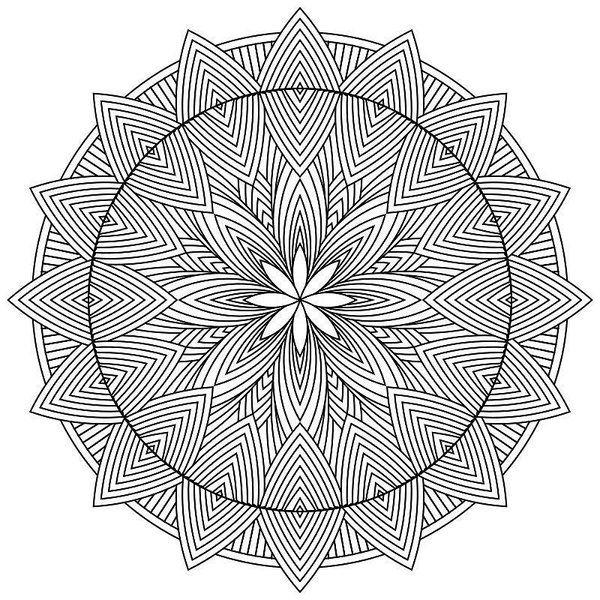 600x600 Mandala Coloring