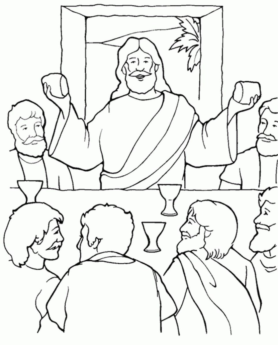 965x1200 Coloring Pages Coloringpagees Twitter At Last Supper Page