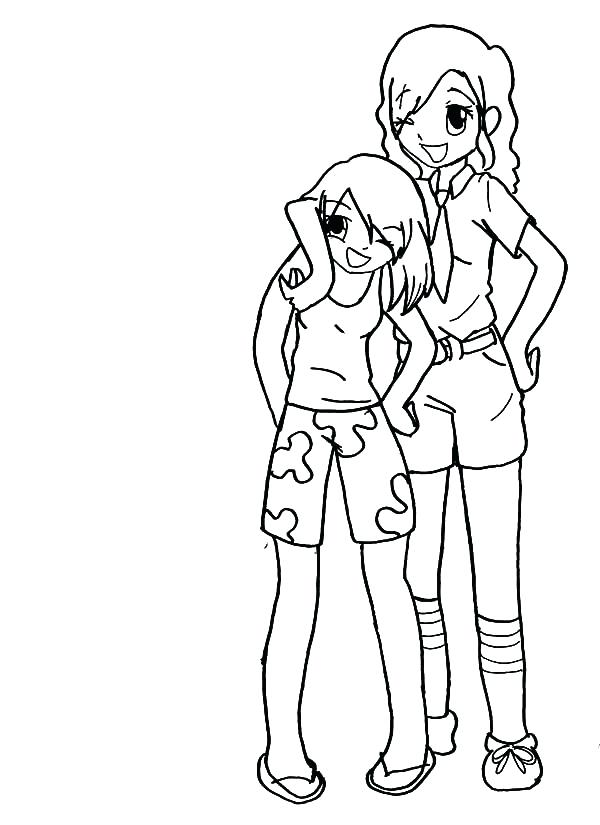 600x825 Best Friends Coloring Pages Best Friends Forever Coloring Pages