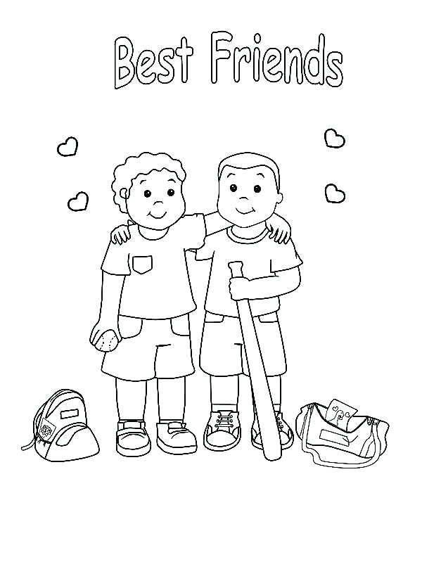 600x799 Friends Coloring Pages Friends Coloring Pages Friendship Coloring
