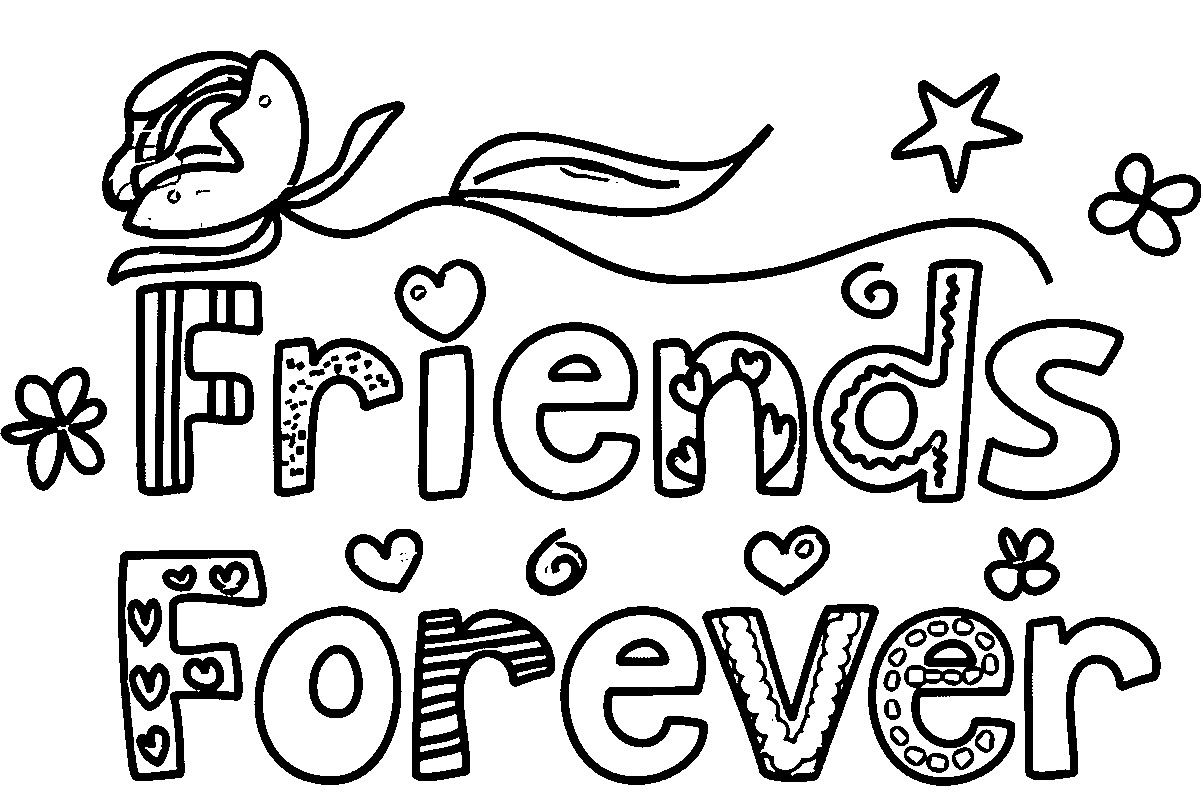 1203x810 Friendship Coloring Pages Fresh Friendship Day Printable Coloring