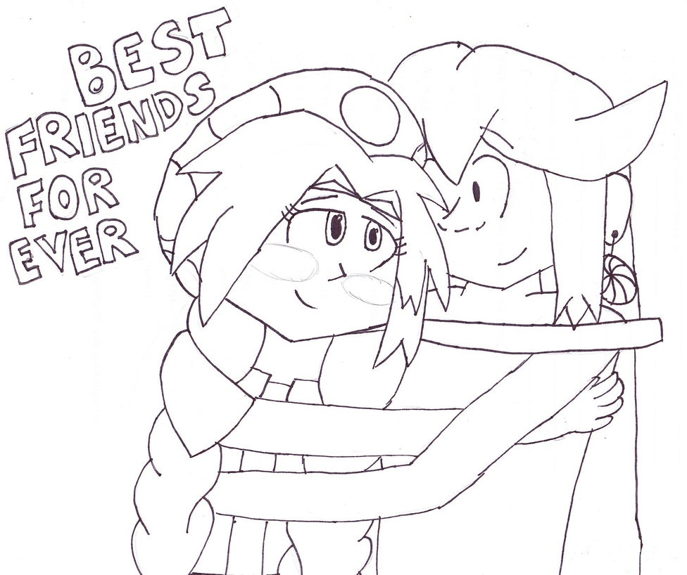 976x818 Two Best Friends Coloring Pages Coloring Pages