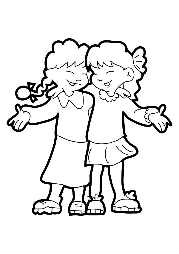 600x849 Best Friends Coloring Page Free Download