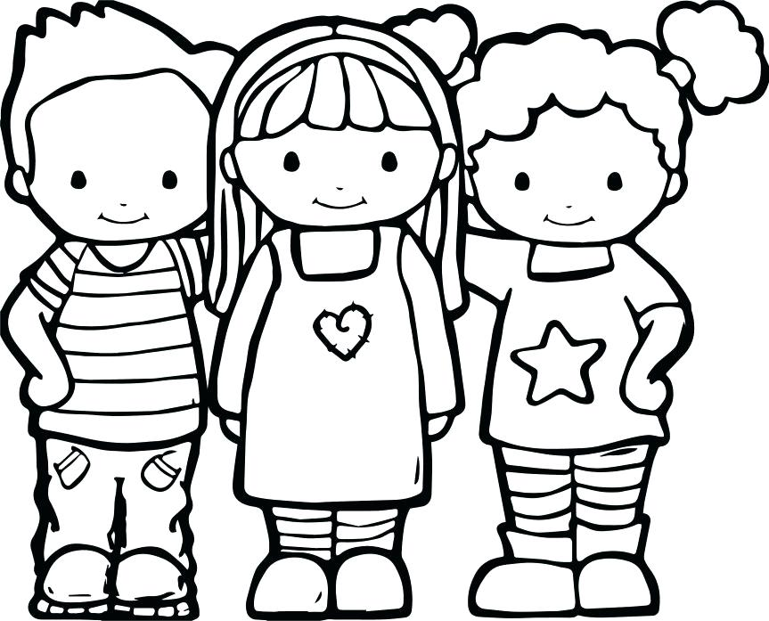 863x697 Best Friends Coloring Pages Best Friends Color Coloring Pages