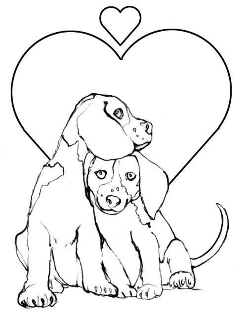 Two Dogs Coloring Pages