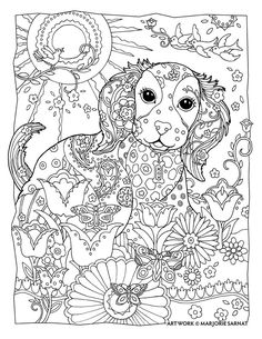 236x305 Creative Haven Dazzling Dogs Coloring Book