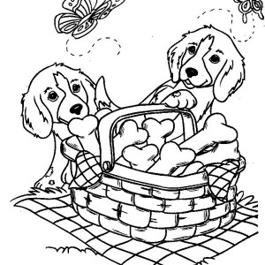 Two Dogs Coloring Pages at GetDrawings.com | Free for personal use ...