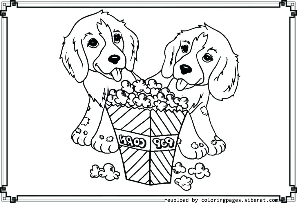 1024x700 I Love Dogs Coloring Pages Doggy Two Are In Loved Page Cartoon Dog