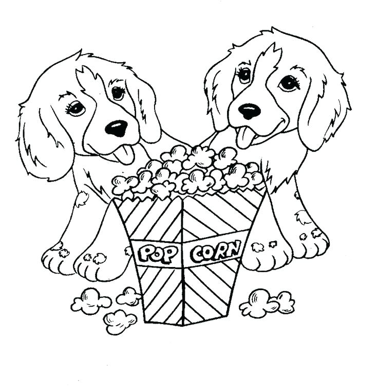 736x760 Marvellous Doggy Coloring Pages Popcorn Coloring Sheet Pictures