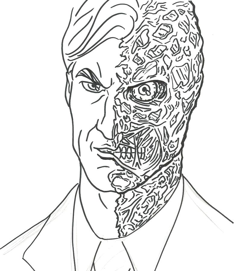 783x900 Two Face Coloring Pages