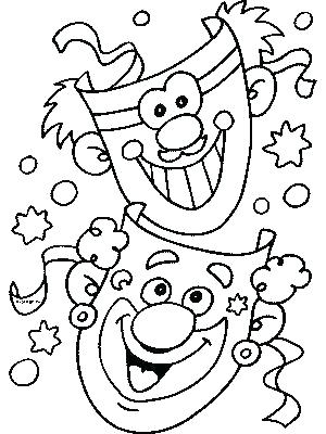 300x400 Two Face Coloring Pages Create A Funny Face Coloring Page Funny