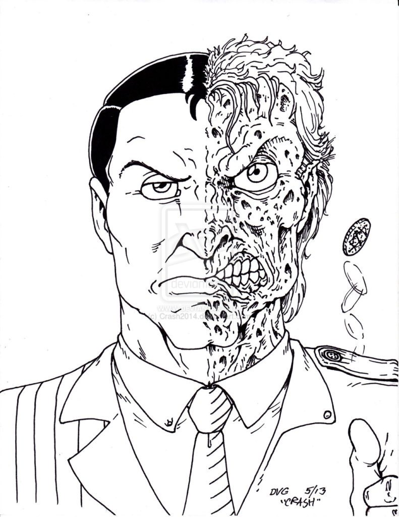 791x1024 Two Face Coloring Pages Sanxiaship Aafbdc X