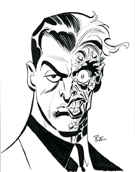 429x549 Two Face Coloring Pages Two Face Coloring Page Two Face Coloring