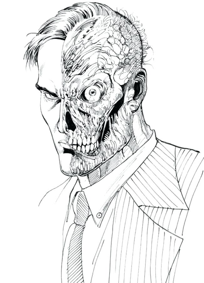 651x900 Two Face Coloring Pages Two Face Coloring Pages Comics Dc Comics