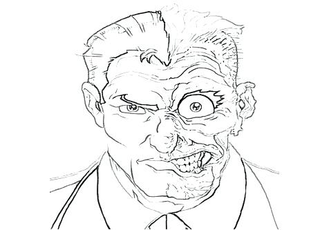 476x333 Two Face Coloring Page Two Face Coloring Pages Batman City Two