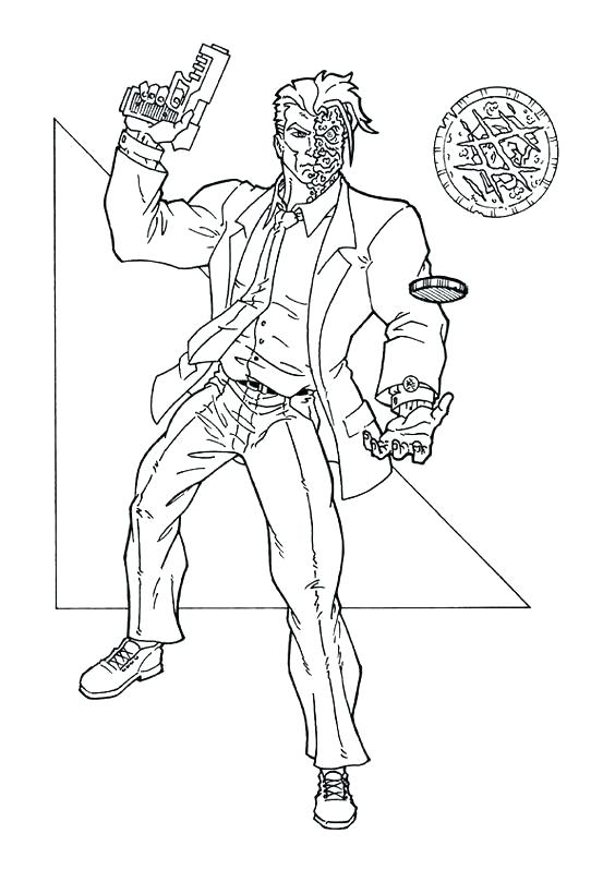 564x798 Two Face Coloring Page Two Face Coloring Pages The Dark Knight