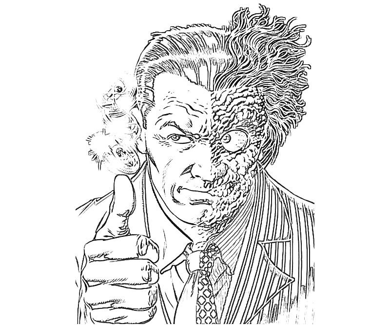 800x667 Entrancing Two Face Coloring Pages Page