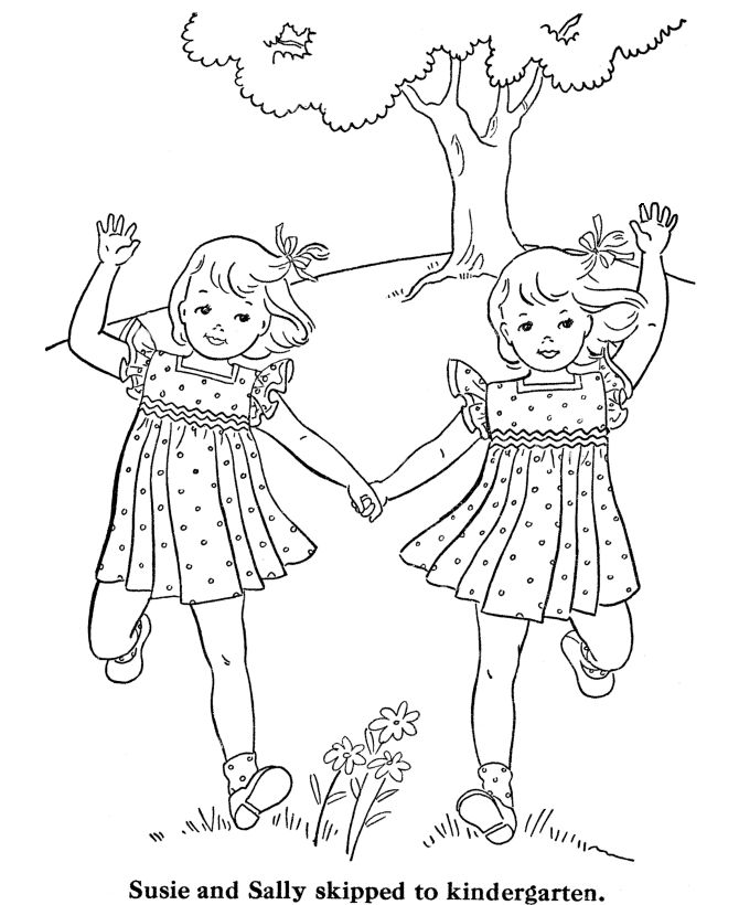 Two Girls Coloring Pages