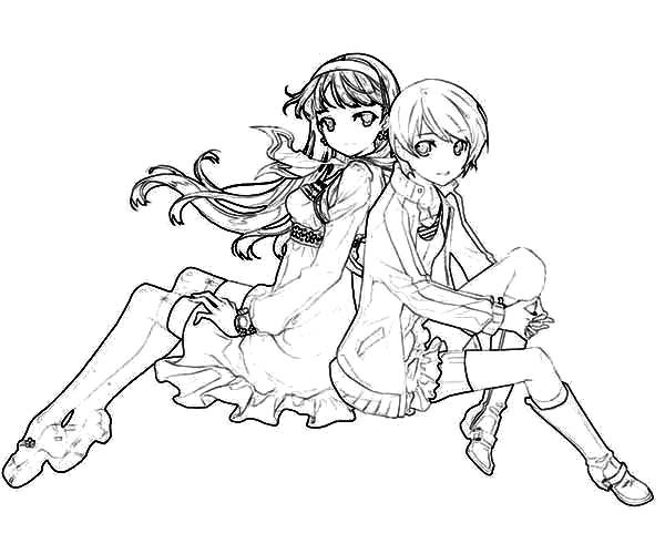 600x500 Chie Satonaka Best Friends Coloring Pages Best Place To Color