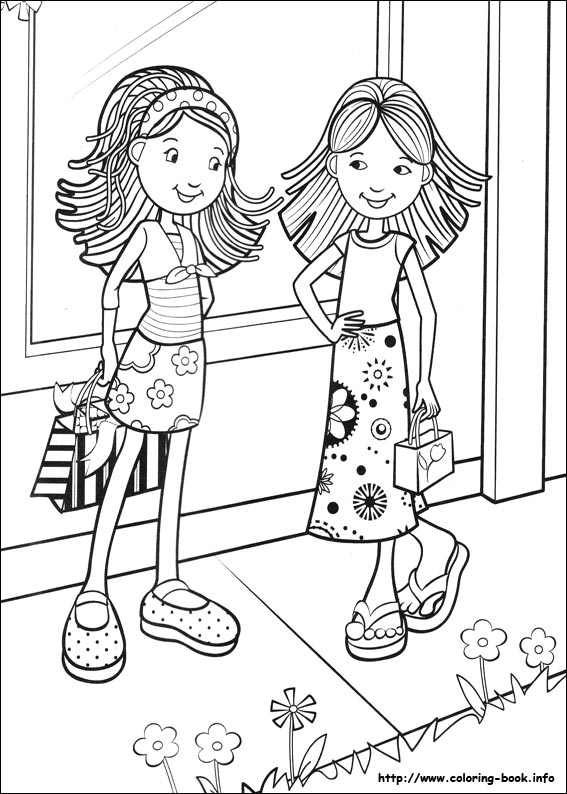 567x794 Groovy Girls Coloring Picture