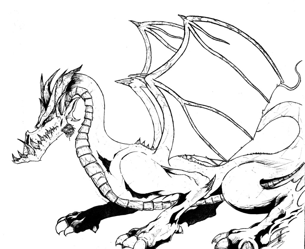 1024x837 Free Printable Dragon Coloring Pages For Kids