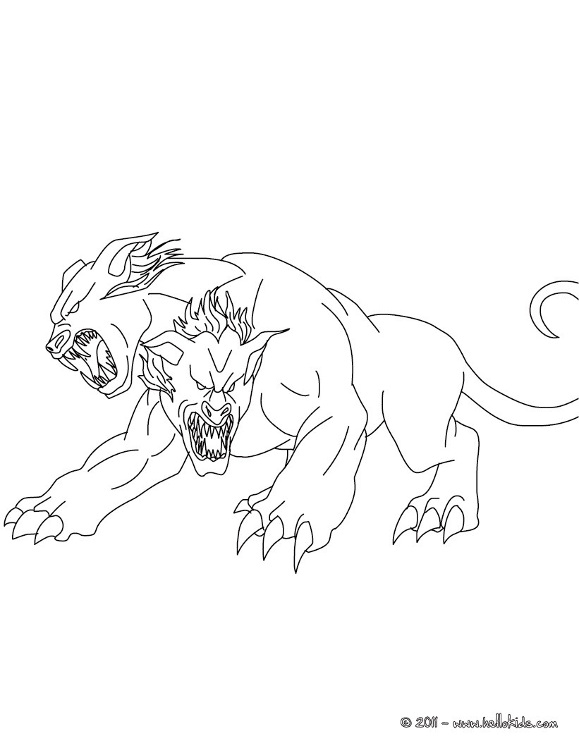 821x1061 Orthros The Headed Dog Coloring Pages