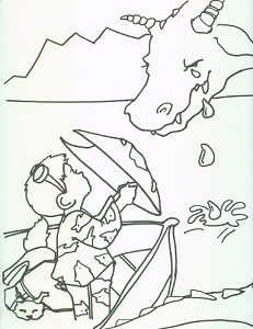 231x300 The Different Dragon Coloring Pages Two Lives