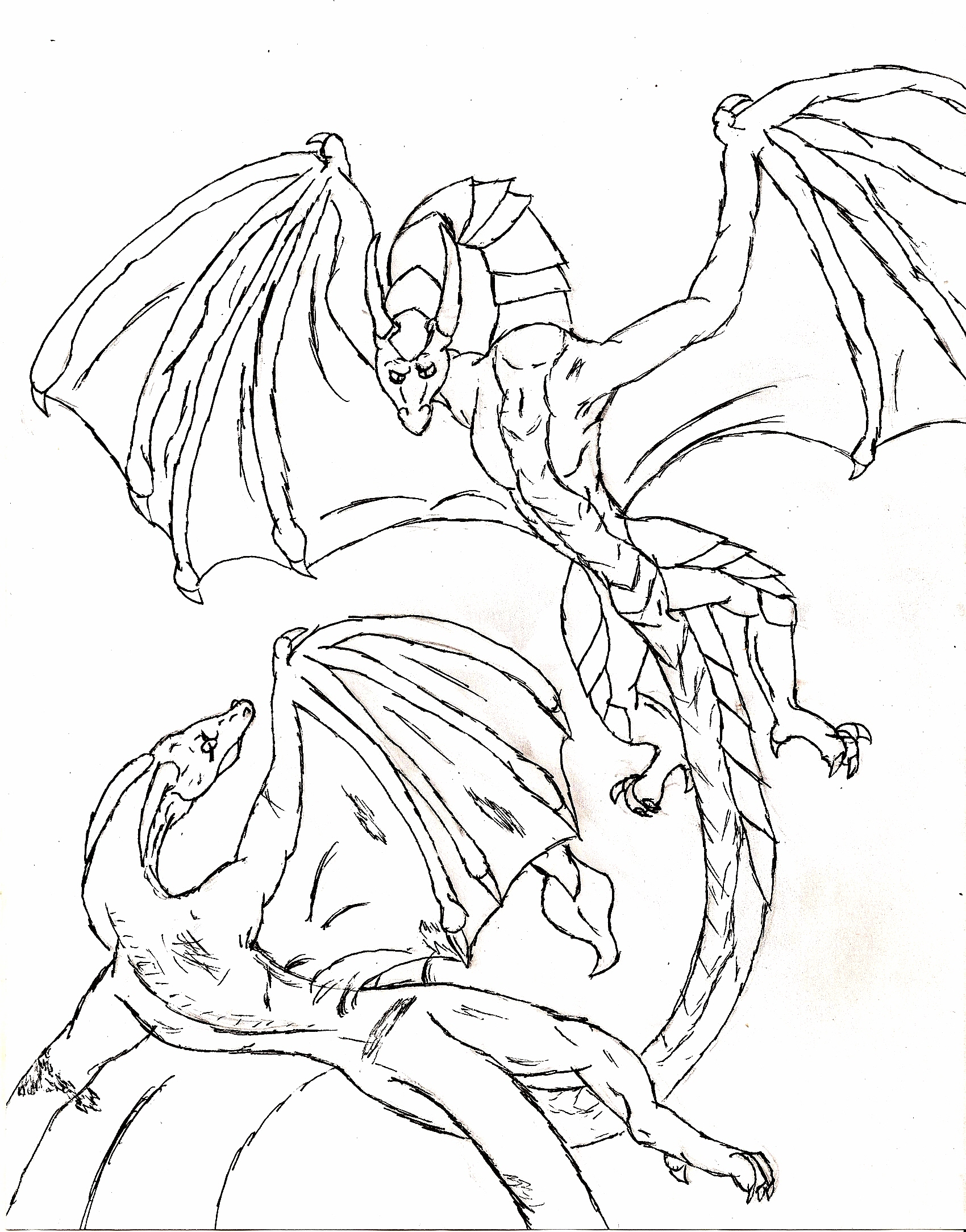 1700x2167 Chinese Dragon Coloring Page