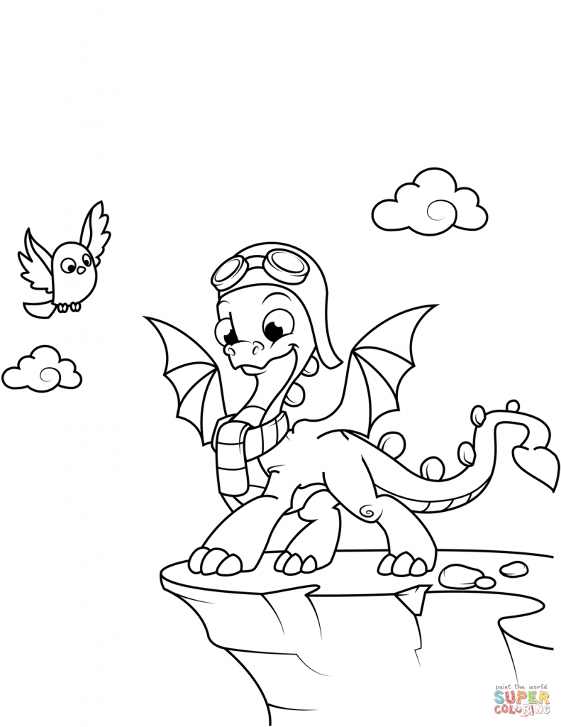 791x1024 Dragon Coloring Pages