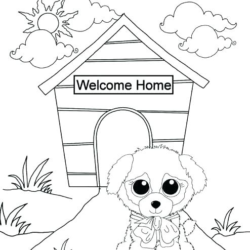 494x494 Beanie Boo Coloring Pages Beanie Boos Bubble Gum Boo Coloring