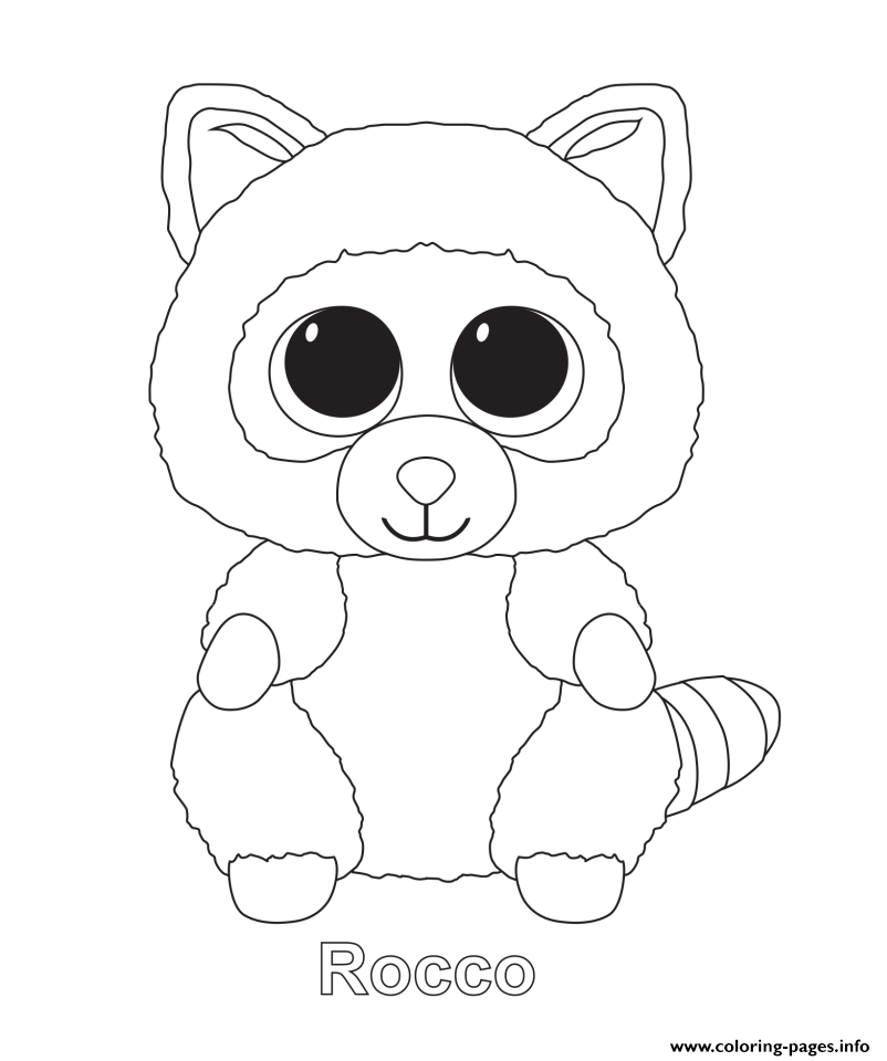 802x960 Free Printable Beanie Boo Coloring Pages