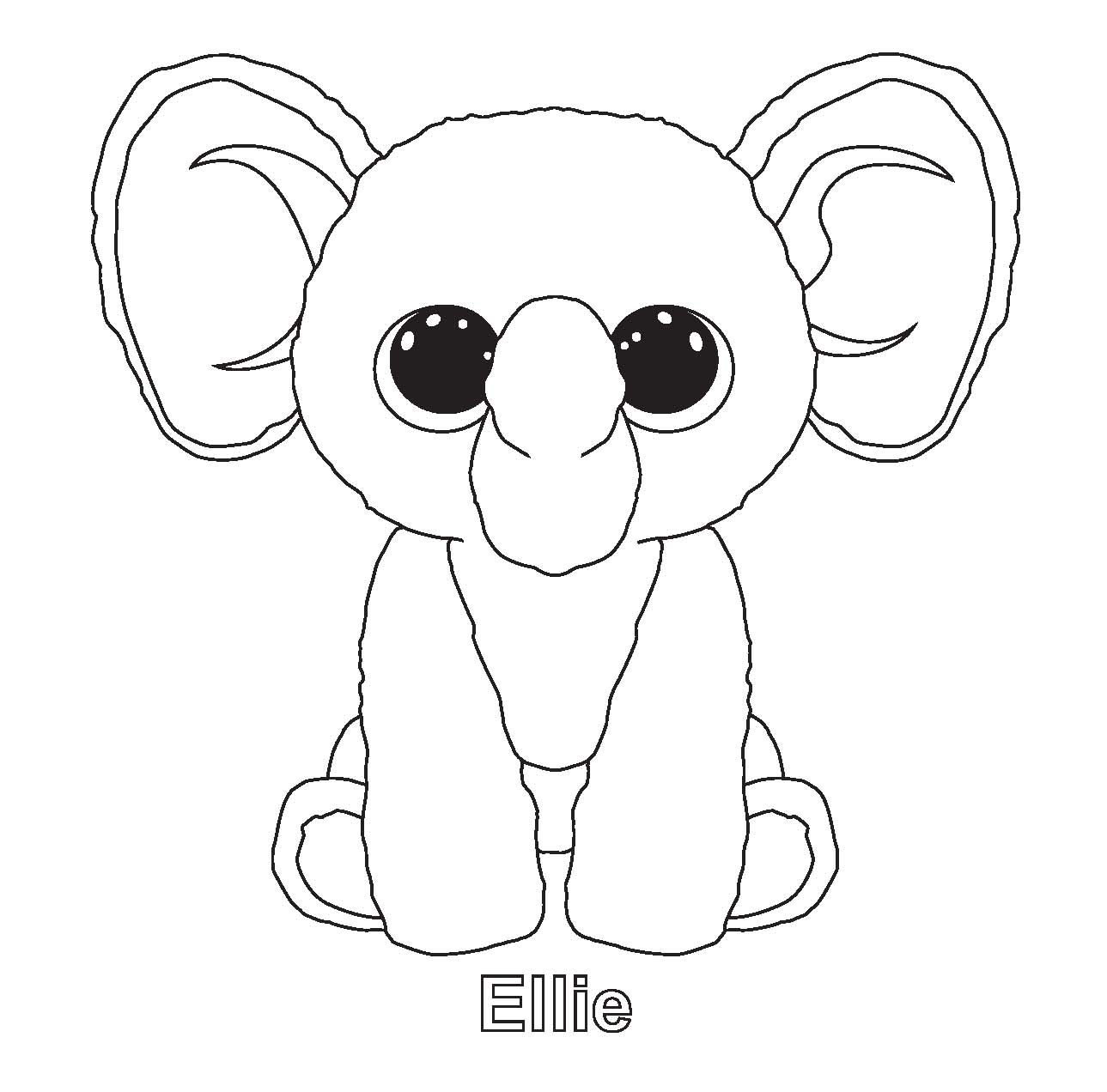 1289x1272 Opportunities Free Printable Beanie Boo Colori