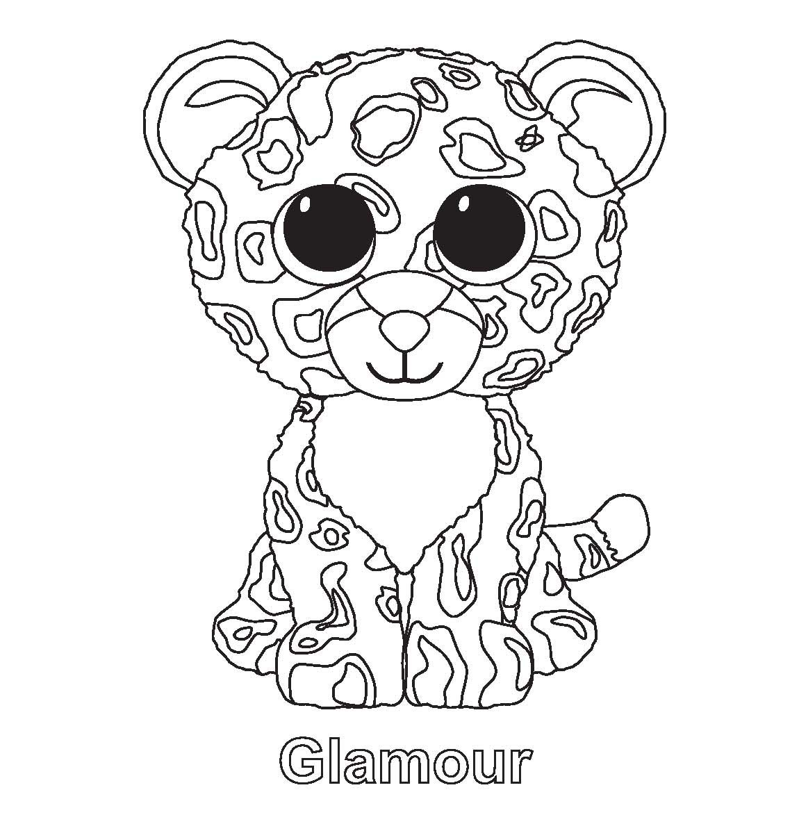 1150x1209 Pioneering Free Printable Beanie Boo Coloring