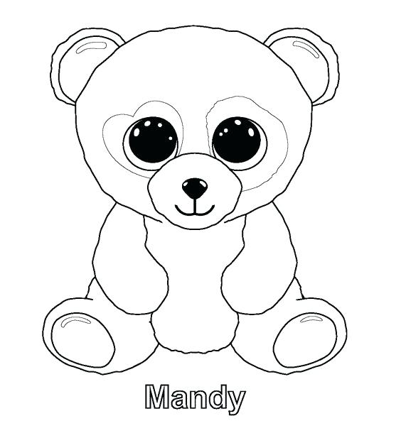 564x617 Stuffed Animal Coloring Pages Beanie Boos Coloring Pages Ty